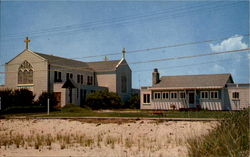 Our Lady Star Of The Sea Catholic Church And Rectory Postcard