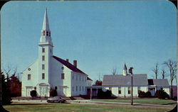 Historical Long Island ; The Old First Church Postcard