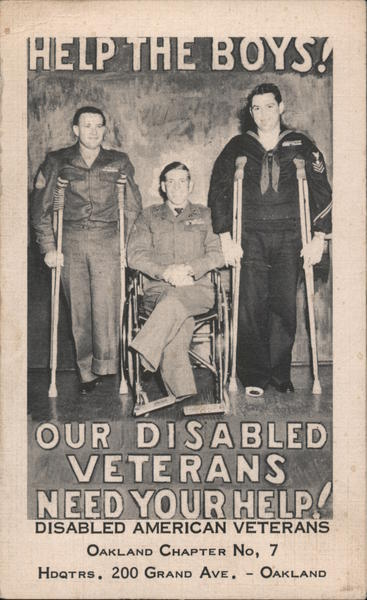 Help The Boys! Our Disabled Veterans Need Your Help Oakland California