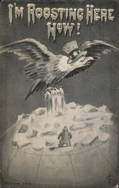 I'm Roosting Here Now! (American Eagle at North Pole 1910)