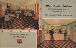 War Dad's Canteen Postcard