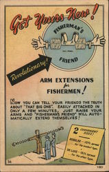 Fisherman's Friend Arm Extensions Postcard