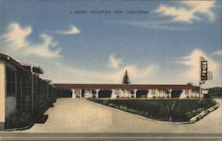 L Motel, Mountain View, California Postcard