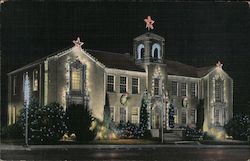 City Hall with Christmas Lighting Postcard