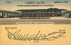 Varsity Motel, 25 Fifth Ave. - Just off El Camino Real Postcard