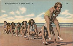 Frolicking Beauties Postcard