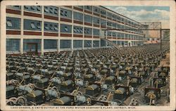 Ford Motor Company - 1,000 Chassis, a Day's Output Postcard