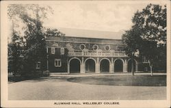 Alumnae Hall, Wellesley College Postcard