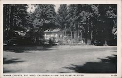 Tennis Courts - On the Russian River Postcard