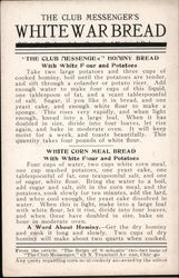 War Bread Recipes Postcard