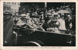 President and Mrs. Hoover Honor Thomas A. Ediscon Postcard