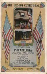 The Sesqui Centennial: Betsy Ross House Philadelphia...150 Years of American Independenc Postcard