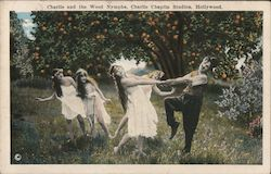 Charlie and the Wood Nymphs, Charlie Chaplin Studios Postcard