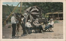 Charles Ray and Staff, The Charles Ray Productions Postcard