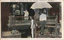 Shooting a Chinatown Scene, with Constnace Talmadge Postcard
