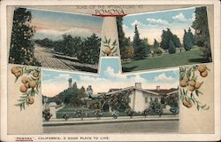 Some of the Attractions at Pomona Postcard