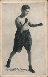 Fighting Billy Murray, middleweight boxer, 1921 Postcard