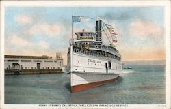 Ferry Steamer Calistoga, Vallejo San Francisco Service
