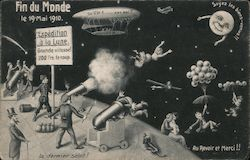 Halley's Comet Fin Du Monde le 19 Mai 1910 - Expedition a la Lune Postcard