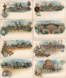 Set of 8: Pan-American Exposition Postcards 1901 Postcard
