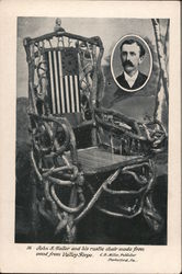 John S. Haller, and Chair Made From Wood from Valley Forge Postcard