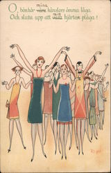Oh Well! Flappers Throw Up Their Arms in Exasperation - Birger