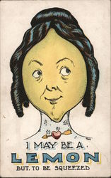 I May Be A Lemon But. To Be Squeezed. Postcard
