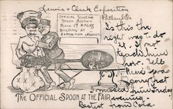 The official spoon at the fair Postcard