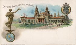 Machinery and Transportation building, Pan American Exposition Postcard