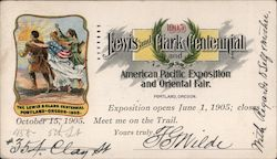 Lewis and Clark Centennial - American Pacific Exposition and Oriental Fair Postcard