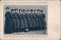 Girl Basketball Players of the US Indian School Postcard
