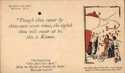 Though Thou Swear By Thine Auto Seven Times Postcard