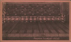 Bowling Alley Postcard
