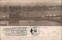 Electric Railroad and Steamship Terminal Postcard