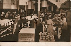 Roast Coffee Packing Room, Folgers Golden Gate Coffee Postcard