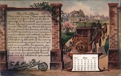 Lachman Brothers Furniture - 1911 Calendar Postcard