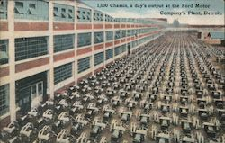1,000 chassis, a day's output at the Ford Motor Company's Plant Postcard