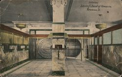 Interior, Savings Bank of Kewanee Postcard