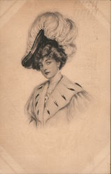 Exhibition of Exclusive High-Class Millinery Postcard