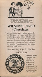 Wilson's Co-Ed Chocolates Postcard