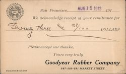 Goodyear Rubber Company Postcard