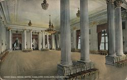 Ivory Ball Room at the Hotel Oakland Postcard