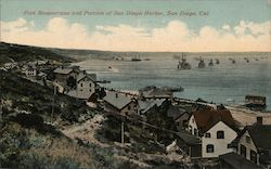 Fort Rosencrans and portion of San Diego Harbor Postcard