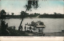 Ferry Crossing the Sacramento River Postcard