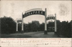 Oak Park Entrance Postcard