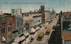 K Street from 6th looking East Postcard