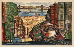 Nob Hill, by Ted Lewy Postcard