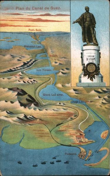 Plan du Canal de Suez Maps