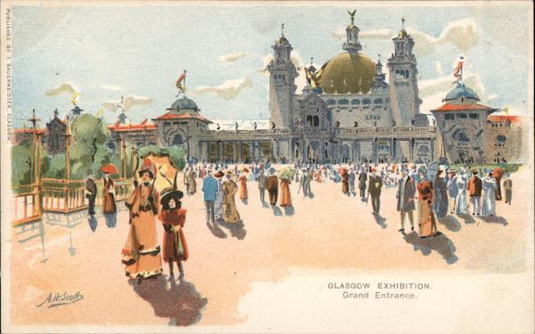 Glasgow Exhibition, Grand Entrance (Painting) Scotland