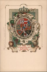 Coat of Arms - The Kingdom of Spain Postcard